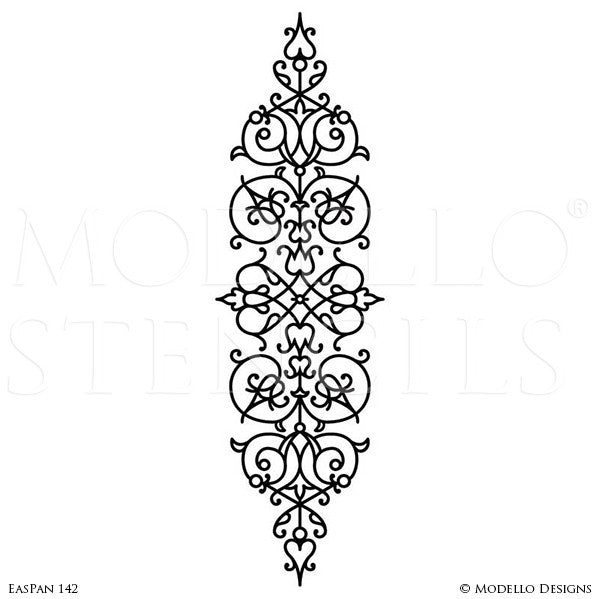 Decorative Panel Stencils for Stenciling Ceiling or Wall Designs - Modello Custom Stencils for Traditional Classic Decor