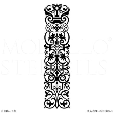 European and Old World Home Decor - Custom Panel Stencils for Painting Wood Floors and Walls