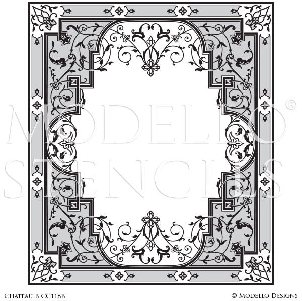Traditional Floor Ceiling Designs for Decorative Stencil Art - Modello Custom Stencils
