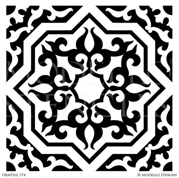 Decorative Concrete Stencils and Tile Designs - Modello Custom Stencils