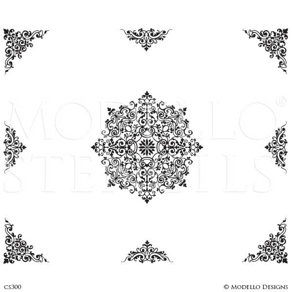 CS300 Custom Ceiling Stencils Set