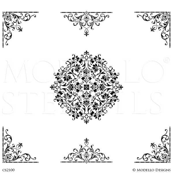 CS2100 Custom Ceiling Stencils Set