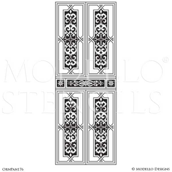 Room Makeover with Painted Wall Panel Decor - Modello Custom Stencils