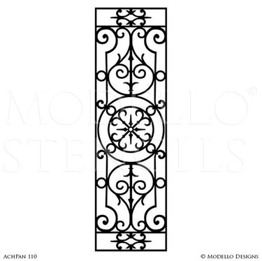 Architectural Design and Decor with Tall Wall Panel Stencils - Modello Custom Stencils