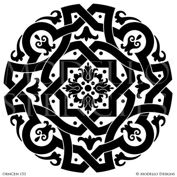 Painting Ornamental Designs on Grand Ceilings Stencils - Modello Custom Stencils and Decor