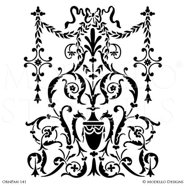 Painted Large Wall Art Graphics Stencils Custom Modello Stencils