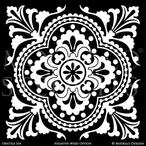 Ornamental Decorative Tiles for Easy Stenciling - Modello Custom Stencils