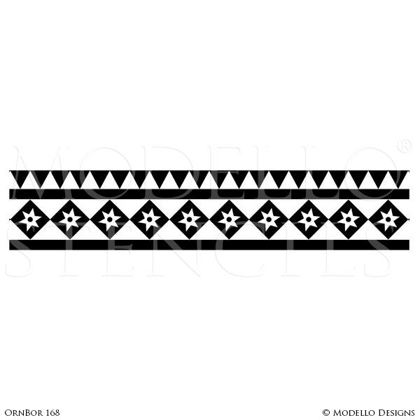 Ornamental Border Designs for Custom Decorating - Modello Custom Border Stencils