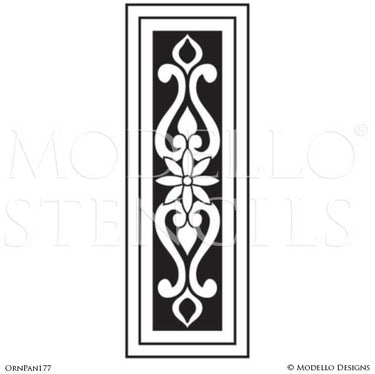 Adhesive Wall Panel Stencils with Decorative Designs for Painting - Modello Custom Stencils