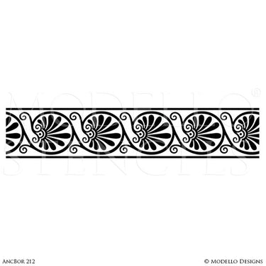 European Decorating Ideas with Painted Ceiling Design - Modello Custom Border Stencils
