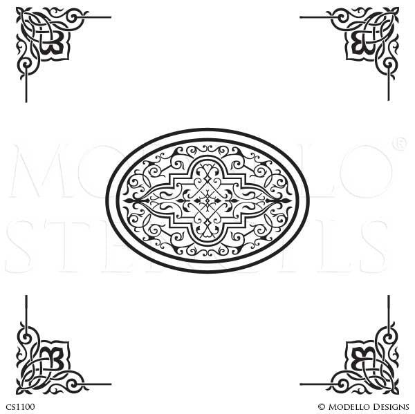 CS1100 Custom Ceiling Stencils Set