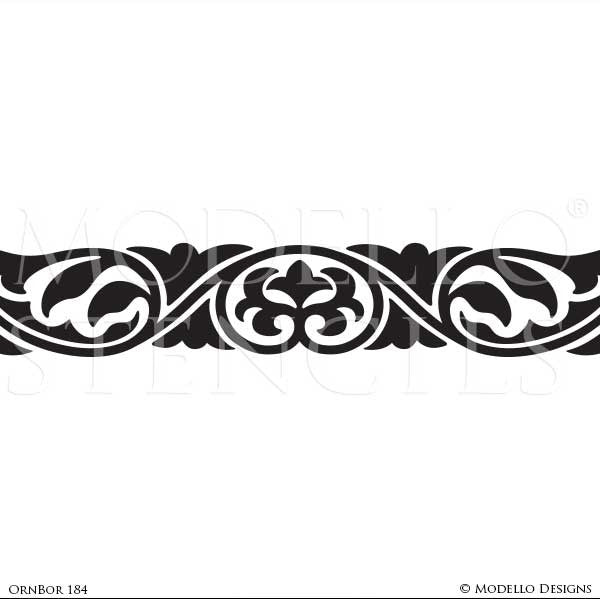 Interior Decorating with Custom Border Stencils - Modello Designs Wall Art and Ceiling Decor