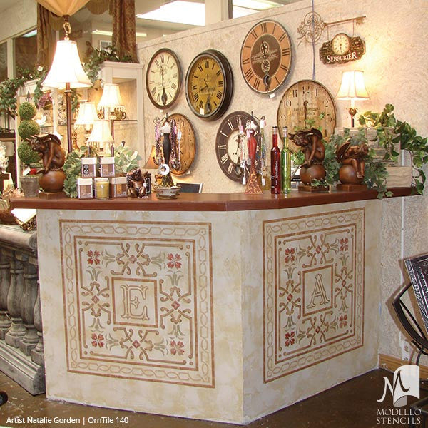 Painting Decorative Furniture Ideas with Custom Stencil Designs - Modello Vinyl Stencils