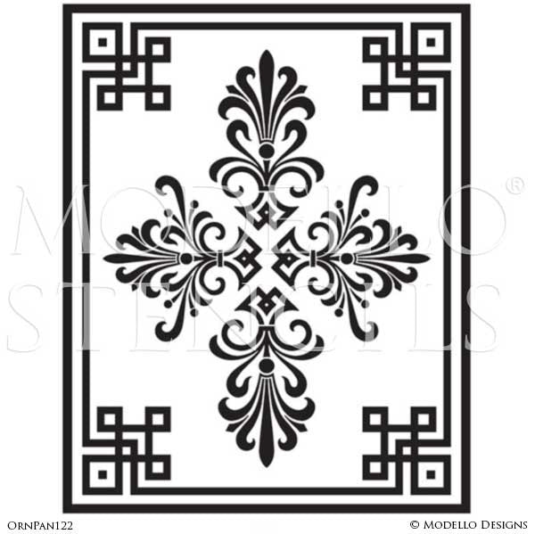 Large Grand Ceiling Stencils - Painted Panel Designs - Custom Modello Stencils