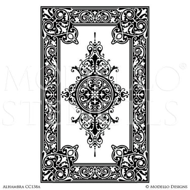 Decorative Carpet Panels for Floors or Ceilings - Modello Custom Stencils