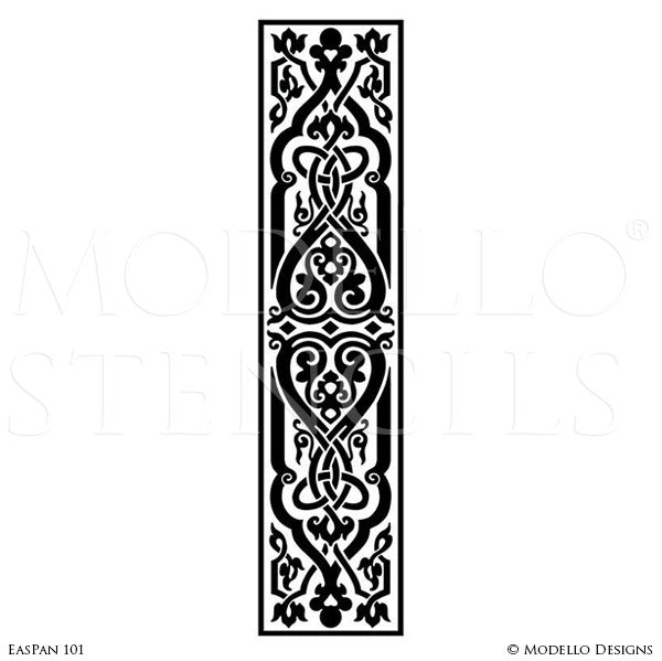 Large Wall Mural Stencils - Stenciled Painted Wood Floors Ceilings Wall Decor - Modello  sc 1 st  Modello® Designs & Painted Large Wall Art Graphics Stencils - Custom Modello Stencils ...