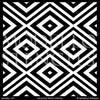 Retro or Modern Diamond Pattern for Painting Floors and Large Walls - Modello Custom Stencils