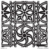 Tribal African Pattern - Painted Wall Mural Animal Designs - Large Custom Stencils for Decorating