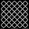 Modern or Tribal or Asian Decorating Idea using Large Trellis Pattern Wall Stencils - Modello Designs