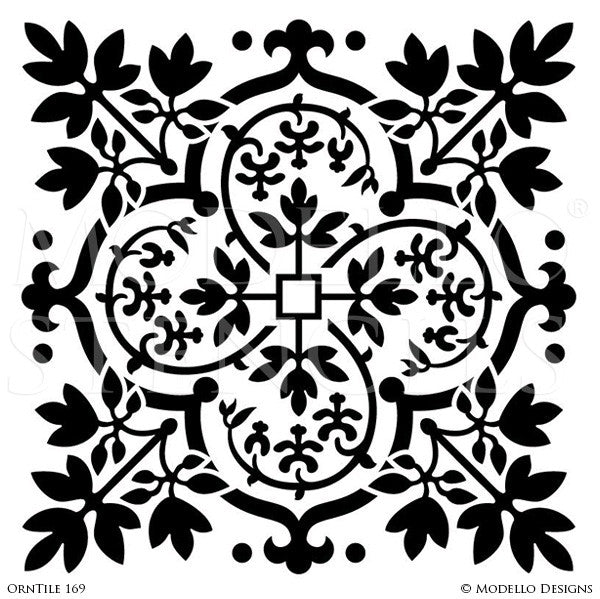 Old World and European Design and Decor - Large Tile Stencils - Modello Custom Stencils