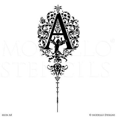 Letter A Custom Wall Art Designs for Classic Lettering Decor - Modello Custom Stencils