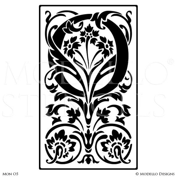 Letter O Alphabet Lettering Stencils For Decorative Painting Projects
