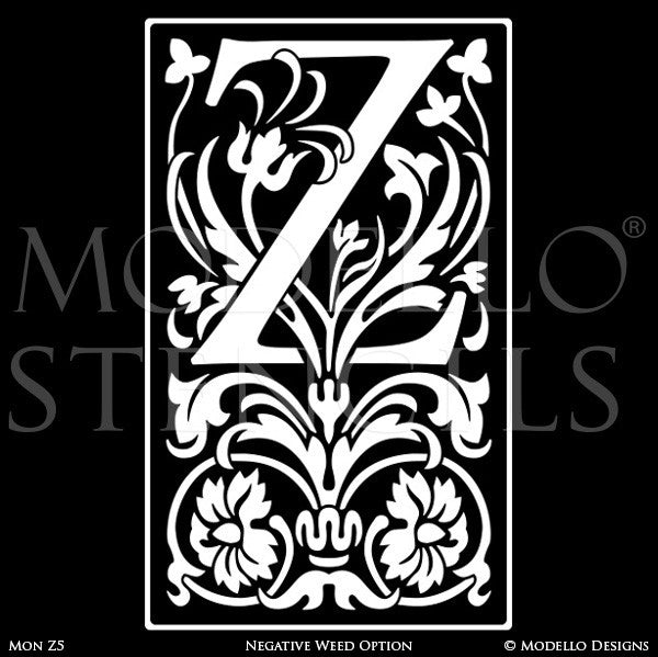 Letter Z Alphabet Lettering Stencils For Decorative Painting Projects