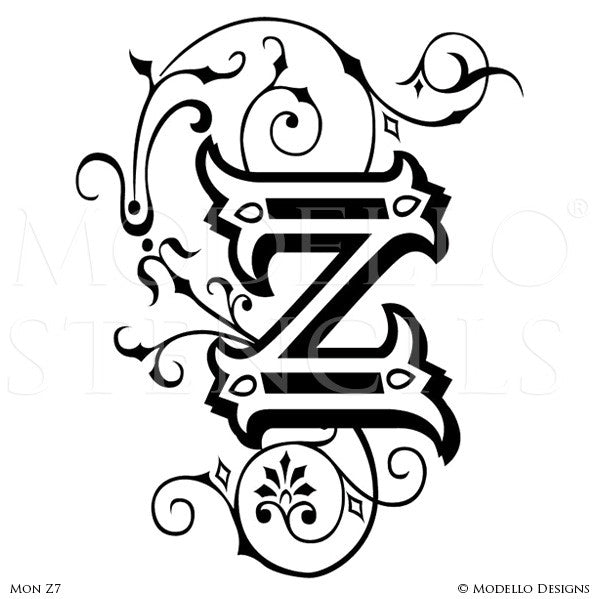 Letter Z Custom Wall Art Designs For Classic Lettering Decor