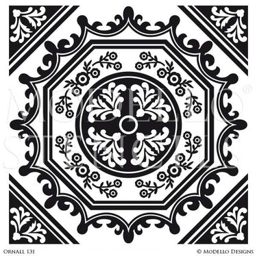 Decorating Floors and Walls with Global Chic Style and Medallion Stencils - Modello Custom Stencils