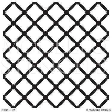 Diamond Pattern Modern Wall Stencils for Decorative Painting - Modello Designs