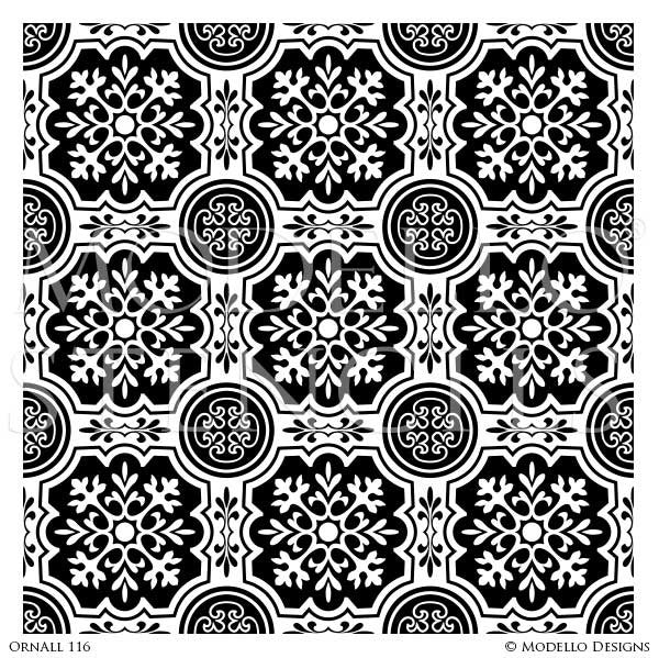 Tile Patterns to Paint on Walls and Floors - Modello Custom Stencils