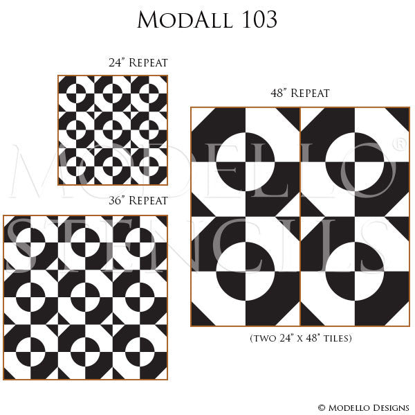 Large Wall Stencils with Custom Vintage Designs - Modello Stencils