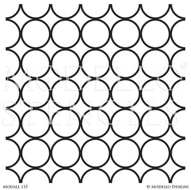 Modern Polka Dot Dotted Pattern Painted Allover Wall Stencils or Floor Stencils - Modello Designs