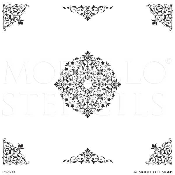 CS2300 Custom Ceiling Stencils Set
