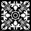 Exotic and Global Chic Decor Idea - Painted Tile Stencils from Modello Custom Stencils