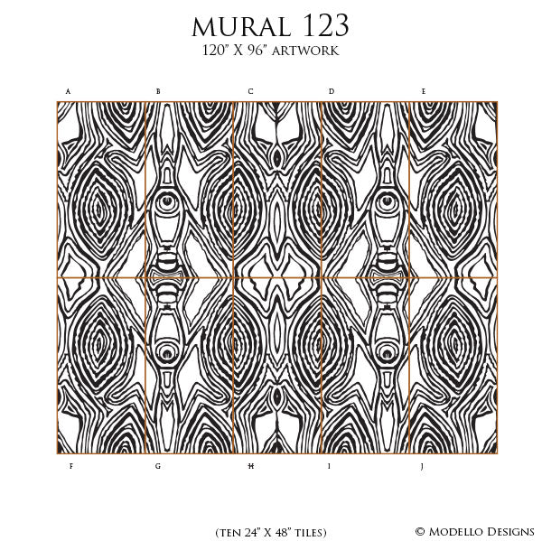 African Wallpaper Tribal Pattern Stencils Custom Mural Art Design - modellocustomstencils.com