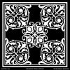 Classic Square Tile Designs Painted on Walls and Floors - Modello Custom Stencils