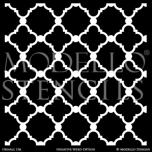 Painting Custom Floor Stencils and Large Wall Mural or Stenciled Ceiling - Modello Custom Stencils