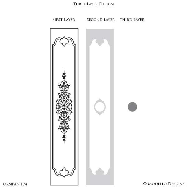Custom Border Stencils from Modello Designs - Adhesive Vinyl Designs to Paint