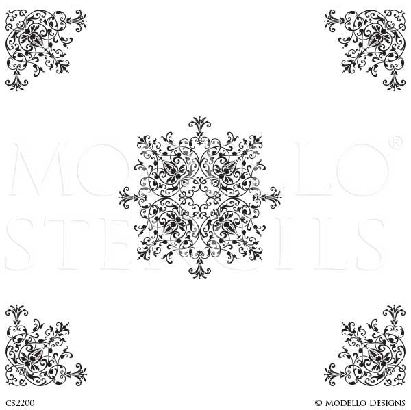 CS2200 Custom Ceiling Stencils Set