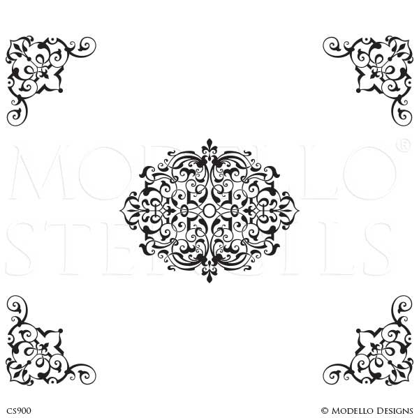 CS900 Custom Ceiling Stencils Set