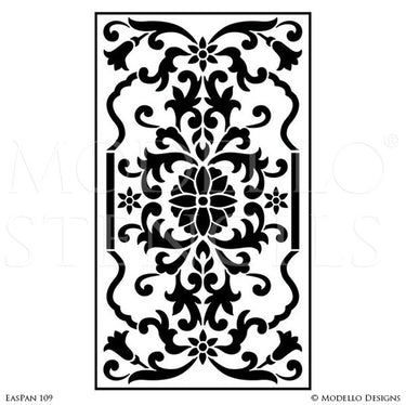 Asian Inspired Home Decor and Large Wall Panel Stencils - Modello Custom Stencils Designs