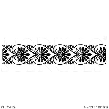 Stenciled Wall Mural or Floor Ideas with Custom Modello Border Stencils