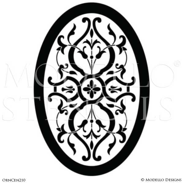 Medallion Stencils for Custom Ceiling or Floor - Modello Designs for Professional Decorating
