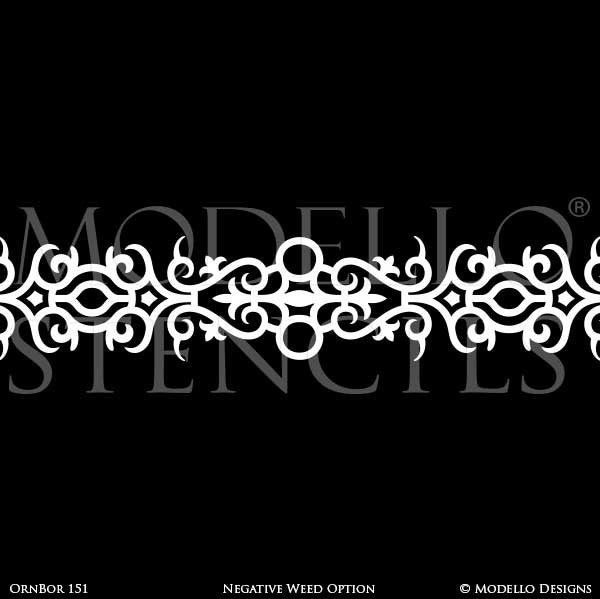 Border Stencils for Painting Ceiling or Wall with Classic Traditional Designs - Modello Custom Stencils