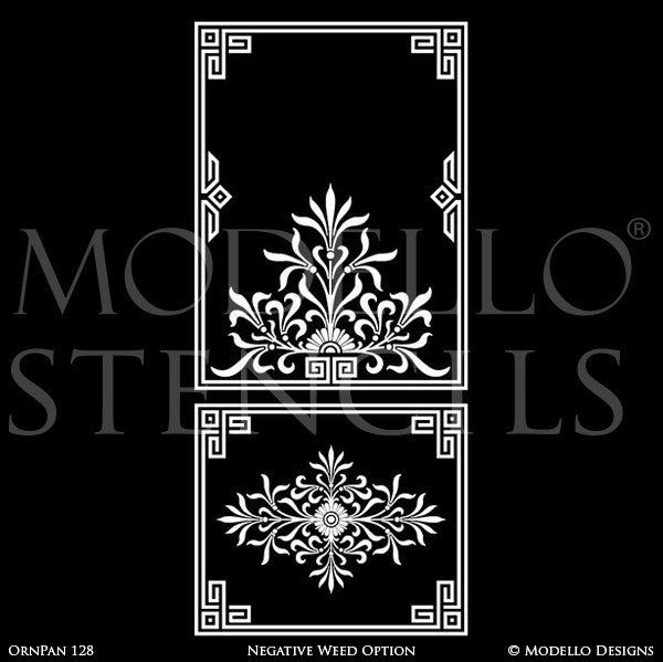 Decorative Panel Stencils for Stenciling Ceiling or Wall Designs - Modello Custom Stencils for Traditional Decor