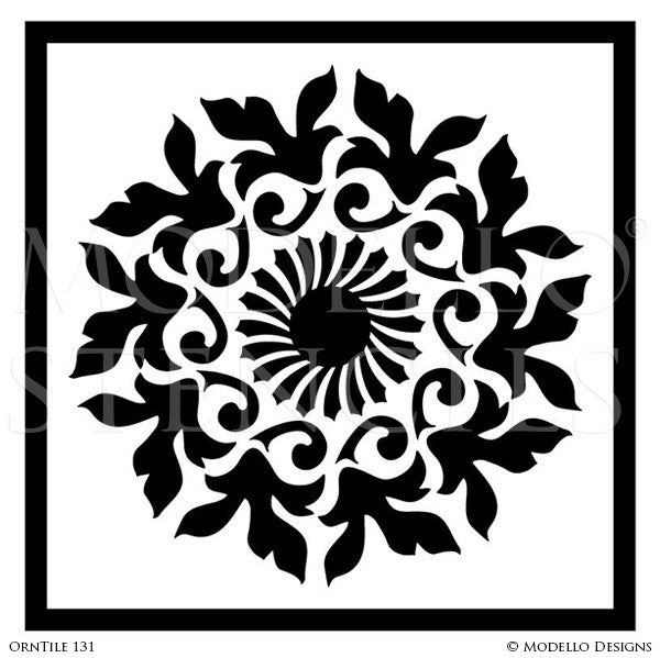 Custom Designed Tile Stencils for Faux Tiles and Decorative Painting Ideas - Modello Custom Stencils
