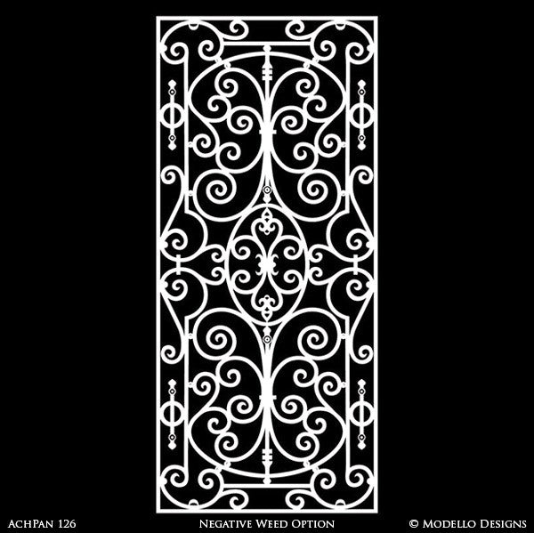Panel Wall Art and Wall Mural Panels Painted onto Custom Home Decor Projects - Modello Custom Stencils