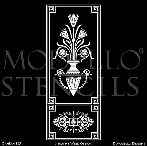 Painted Archway for Entry or Wall Art Door Designs - Custom Modello Wall Panel Stencils