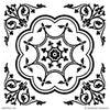 Tile Stencils with Detailed and Elegant Designs to Decorate Custom Decor - Modello Custom Stencils